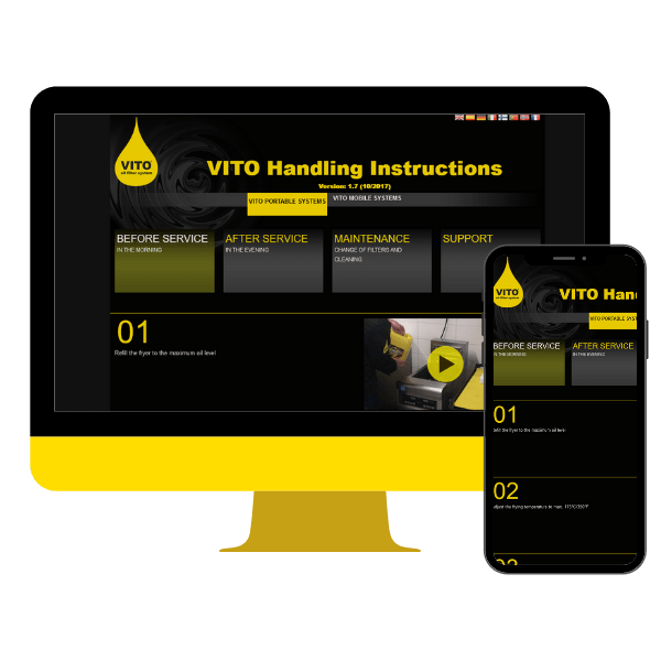 Preview of the VITO handling website